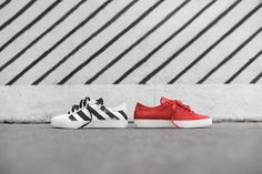 The label has released two fresh striped sneakers for the new season.