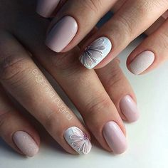 Nails play an important role in a woman's appearance. When Giving your nails makeup for Summer, most women will have a hard time choosing which shape of nails to make. Must Try Nail Designs For Short Nails 2019 Summer Flower Nail Designs, Nail Art Designs, Nails Design, Accent Nail Designs, French Nail Designs, Short Nail Designs, Kawaii Nail Art, Nagellack Design, Beautiful Nail Designs