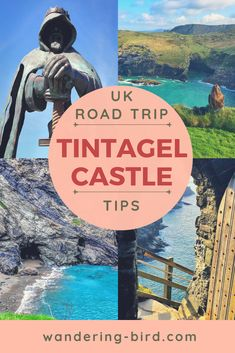 Tintagel Castle in England- one of our favourite places we visited on our UK Road Trip. Such an incredible castle with amazing views!! If you're touring England, add this to your itinerary!! #england #roadtrip #roadtriptips #castles