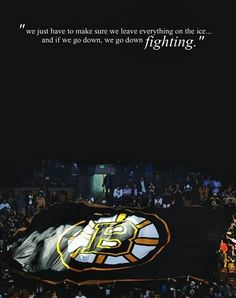 Boston Bruins playoff quote