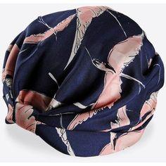 Valentino Seta Birds Print Silk Turban
