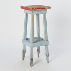 Antique Swedish side table/stool at Terrain. A set of these at a sleek, simple kitchen island would be stunning. They could really warm up a modern space.