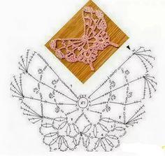 Crochet Trivia – Album by User White – Photo 9 - Verzierungen Ideen Filet Crochet, Crochet Diagram, Freeform Crochet, Crochet Chart, Thread Crochet, Irish Crochet, Appliques Au Crochet, Crochet Motifs, Crochet Squares