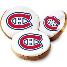 Montreal Canadiens Logo Cookies