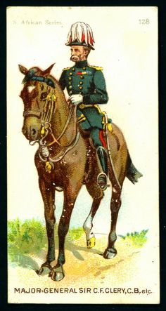 Cigarette Card - Major-General Sir C.F.Clery