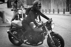 """The Distinguished Gentleman's ride was not just for the gents. Look at this motolady (known as """"The Dutchess"""") representing women motorcyclists in London.  (Big thanks to Dutch Von Shed for sending this my way.)"""