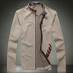 Autumn male stand collar jacket thin solid color casual men's clothing zipper outerwear $78.14
