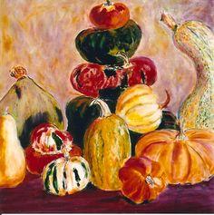 Table Laden Pumpkins and Gourds 2'x2'.jpg (742×747)