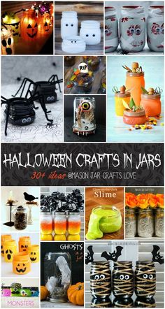 Halloween Craft Ideas: Mason Jar Halloween Crafts for Kids
