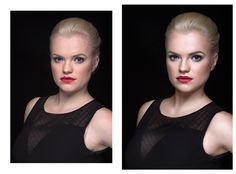 Retouching Before and After
