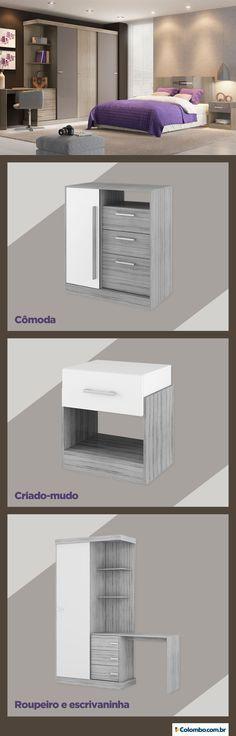 A linha Allegro deixa seu quarto completo e com estilo. Confira todas os móveis disponíveis: http://busca.colombo.com.br/search#w=allegro?utm_source=Pinterest&utm_medium=Post&utm_content=Linha-Allegro&utm_campaign=Produto-27jun14