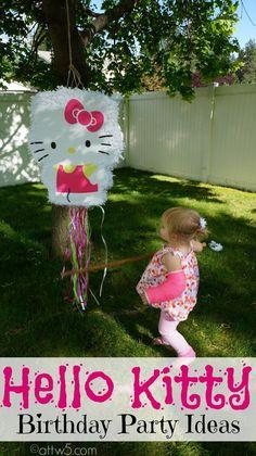 Hello Kitty Birthday Party Ideas #HelloKittyBirthday #NatTurns2