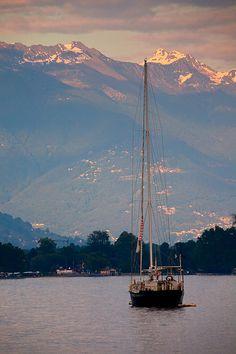 Mountains surrounding Lago Maggiore,  Locarno, Switzerland