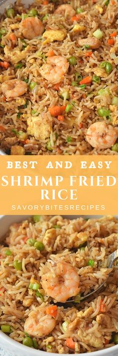 Shrimp Fried Rice If you love Chinese food the this easy,better than takeout Shrimp Fried Rice is the best you can try! If you love Chinese food the this easy,better than takeout Shrimp Fried Rice is the best you can try! Chinese Shrimp Fried Rice, Fried Rice Recipe Chinese, Best Fried Rice Recipe, Shrimp And Rice Recipes, Seafood Recipes, Cooking Recipes, Food Shrimp, Asian Recipes, Healthy Recipes
