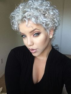 Silver and Curly! Trendy and Powerful!