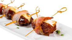 Date Cheese Bacon Bites. Bariatric Friendly, Low/No Carb, Easy to Make, Beautiful Party Food
