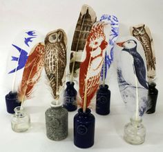 Rebecca Jewell, Quills and Ink wells, 2013
