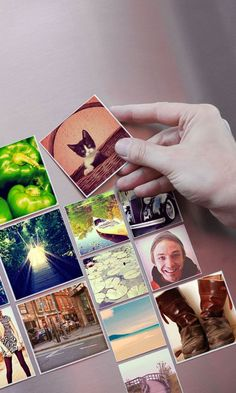 Diy Crafts Ideas : These cute magnets can be made with photos from your Instagram camera-roll or d