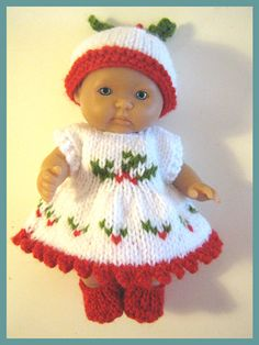 Knitting Pattern for 5 Berenguer Dolls by DesignerDollsClothes