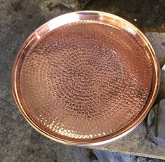 12 Hand Crafted Hammered Copper Serving Tray by Hammered Mules on Gourmly