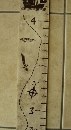 growth chart - pirate themed. super cute but concern that they might 'grow out of' this theme. #9