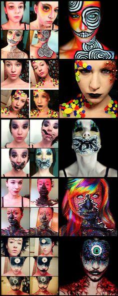 Amazing transformations... Halloween Makeup #halloween #makeup