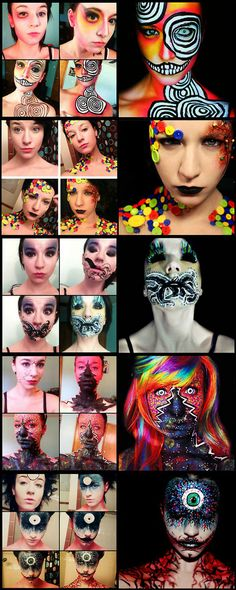 Amazing transformations... Halloween Makeup #halloween #makeup