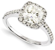 #joyjewelers.com          #ring                     #Forever #Brilliant #Moissanite #Cushion #Ring      1 1/4 CT TW Forever Brilliant Moissanite Cushion Cut Ring                                               http://www.seapai.com/product.aspx?PID=375804