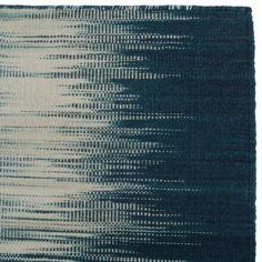 Wollteppich Izumi aus Wolle & Baumwolle, Petrol/Blau/Creme