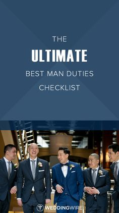 The Ultimate Best Man Duties Checklist - From leading the groomsmen to planning . - The Ultimate Best Man Duties Checklist – From leading the groomsmen to planning the bachelor part - Best Man Wedding Speeches, Wedding Songs, Geek Wedding, Wedding Men, Wedding Stuff, Team Groom, Groom And Groomsmen, Best Man Duties, Bachelor Party Gifts