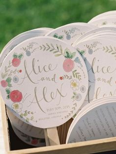 Wedding paper fans. Style me pretty via Pinterest #wedding