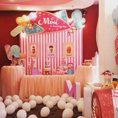 Welcome to Mon's ice cream shop, pick what you want and enjoy it ^o^ #birthdayparty #decoration #partydecor #saigon #GEEKsg #trangtrisinhnhat #trangtri #icecream #icecreamshop #partytheme #birthdayconcept #happybirthday #babygirl #kids #pinky #yummy balloon #first #pink #lovely #littlegirl #theme #desserttable #sweettreats #cakes #sweet