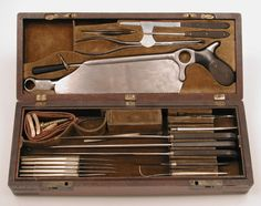 This amputating set belonged to Gustav Weber, who served as surgeon general of Ohio during the Civil War and founded St. Vincent Charity Hospital in Cleveland. c. 1861-1862