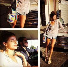 """Stephanie Cayo wearing or """"Sprinkles"""" Mochila Bag by """"Mochila Bag Addixion"""" in CA."""