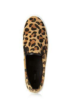 Leopard Pony Hair Slip-Ons | FOREVER 21 - 2000124460