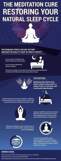 No matter the time of day, the benefits of meditation vary from physical, to mental and emotional. Visit the image link for more details. #InsomniaTips #BenefitsofMeditation
