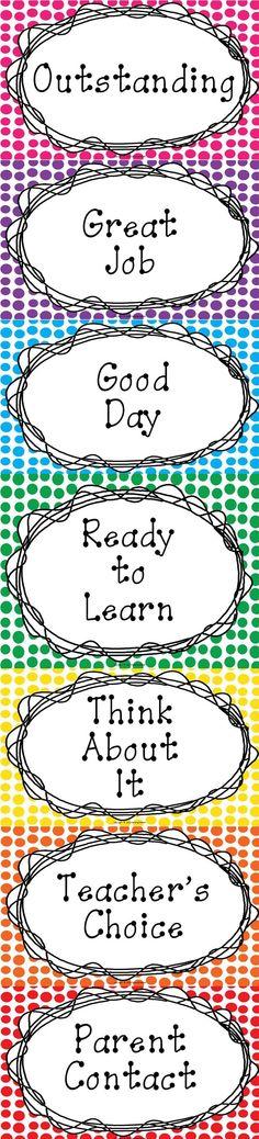 Clip Chart Classroom Management-Polka Dot Style