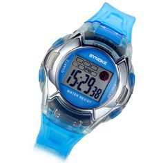 Lancardo Blue Multi Function LED Quartz Sport Watches with Gift Bag. 100% Brand new + One velvet gift bag. Unique design + High quality Resin and Silicon material. Adjustable comfortable band. Time, date, week, alarm clock, stopwatch, LED backlight. Withstands rain and splashes of water, but not showering or submersion.