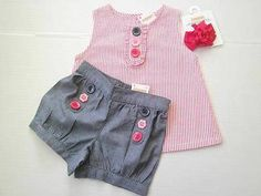 NWT NEW 18-24M 18 24 Gymboree Blooming Nautical Top Short Hair 3Pc Outfit