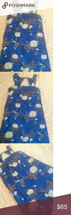 🆕  Beautiful Royal Floral Dress Beautiful dress with Cut-Out back details. Excellent condition perfect for Spring and Summer. Dresses