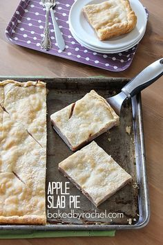 Apple Slab Pie Recipe from @Rachel {Baked by Rachel} A great way to serve apple pie to a crowd!