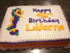 Pansy Birthday Cake