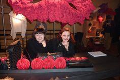 Jaana Parkkila and Kristiina Karinen at their exhibition.