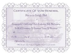 Free printable vow renewal certificate all things wedding marriage vow renewal certificate free printable yadclub Gallery