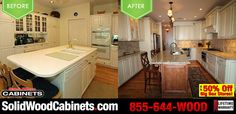 Before and After photo of our customers #kitchencabinets Proud to have done such a great job is this new #kitchendesign !