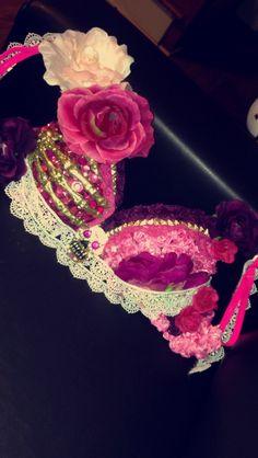 Sugar Skull bra  bon chic — Dayum Good Life. Pink sugar skull costume remastered -- One of our costumes this year!
