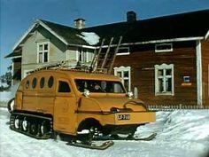 Tämä tässä on Postin verraton lumiauto, jolla kulki kirjeet ja ihmiset 60-luvulla