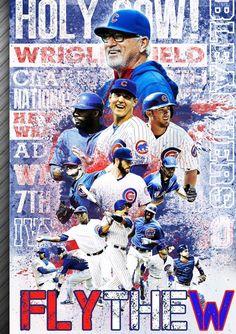 Chicago City Skyline Chicago Cubs Wrigley Field Art Cubs