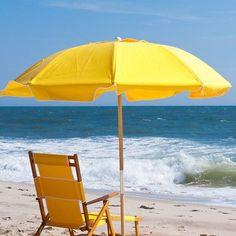 Diameter Fiberglass Commercial Grade Beach Umbrella with Ashwood Center Pole Fabric: Yellow Umbrella, Beach Umbrella, Mellow Yellow, Color Yellow, Playa Beach, Resin Furniture, Market Umbrella, Patio Umbrellas, Beach Day