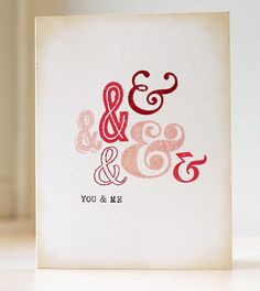 Quick and Easy Ampersand Card by Kalyn Kepner   paper is love